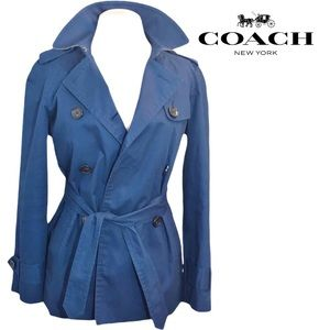 Coach Navy Tie Trench S